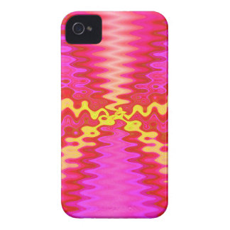 groovy pink yellow iPhone 4 case