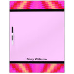 Groovy pink yellow mod abstract Dry-Erase whiteboards