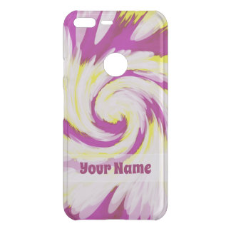 Groovy Pink Yellow White TieDye Swirl Abstract Uncommon Google Pixel XL Case