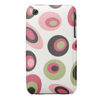 Groovy polka dots case green pink white black Case-Mate iPhone 3 cases