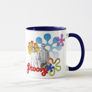 Groovy Pop Art  Mug w/ Acent Flower