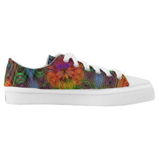 Groovy psychedelic low tops