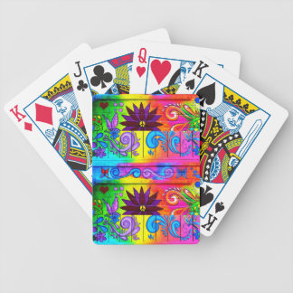 groovy psychedelic playing cards
