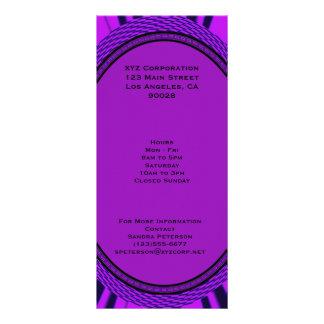 Groovy purple abstract custom rack cards