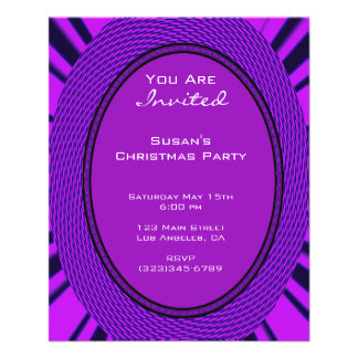 Groovy Purple Christmas Flyer