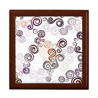 Groovy Purple Swirling Art Gift Box