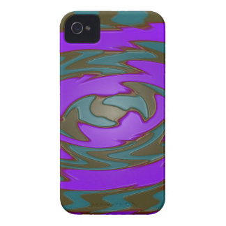 groovy purple teal Case-Mate iPhone 4 case