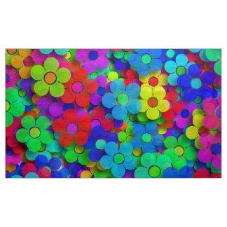 Groovy Rainbow Flowers Fabric