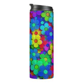 Groovy Rainbow Flowers Thermal Tumbler