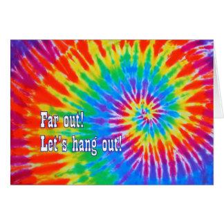 Groovy Rainbow Tie-Dye Party Invitation