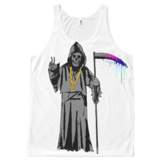 Groovy Reaper All-Over Print Tank Top