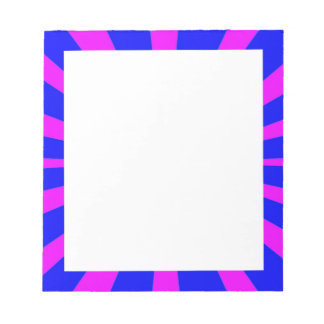 Groovy Retro Blue & Pink Background Notepad