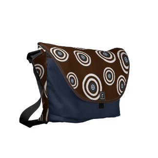 Groovy Retro Circles Commuter Bags