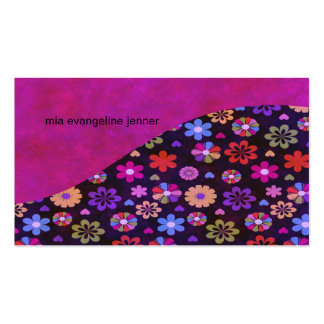 Groovy Retro Flower Power 60s 70s Business Card Template