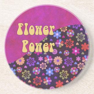 Groovy Retro Flower Power 60s 70s Coaster