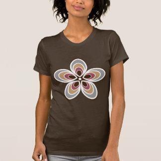 Groovy Retro Flower With Art Deco Twist T-shirts