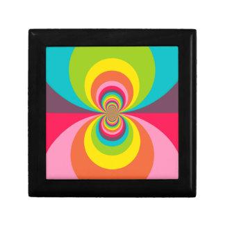 Groovy Retro Hippie Vintage Rainbow Kaleidoscope Trinket Box