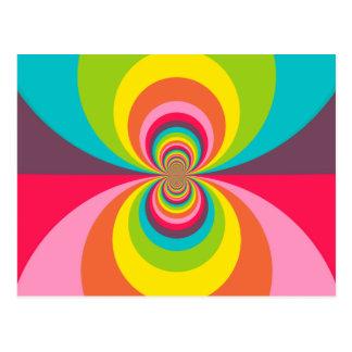 Groovy Retro Hippie Vintage Rainbow Kaleidoscope Postcard