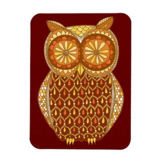 Groovy Retro Owl Art Premium Magnet Magnet