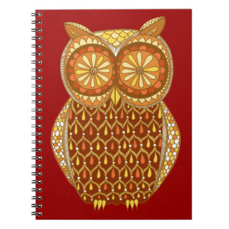 Groovy Retro Owl Notebook