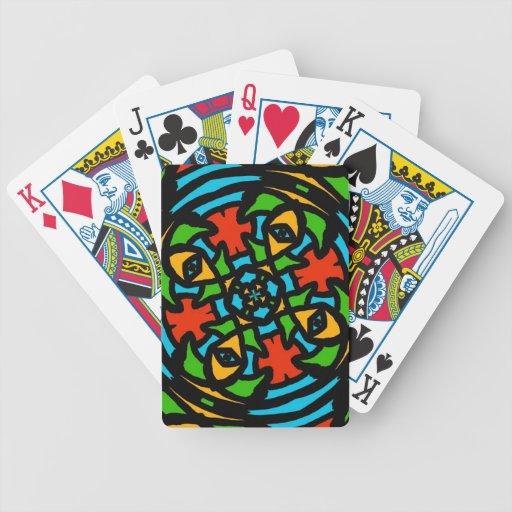 Groovy Retro Puzzle Abstract Playing Cards