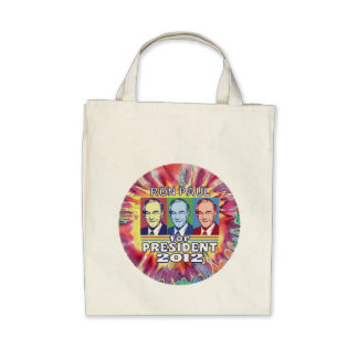 Groovy Ron Paul for President Tote Bags