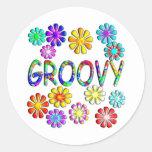 Groovy Round Stickers