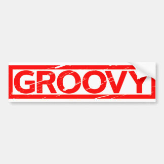 Groovy Stamp Bumper Sticker