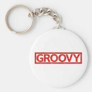 Groovy Stamp Key Ring