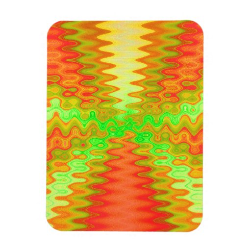 Groovy Sunny Abstract Flexible Magnet