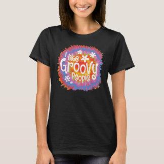 Groovy Tie Die Black T-Shirt