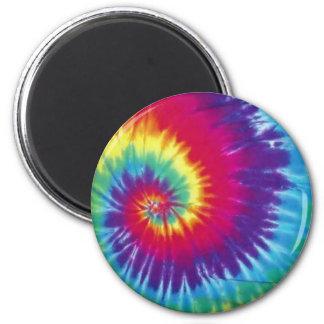 Groovy Tie Dye Hippie Style 6 Cm Round Magnet
