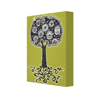 Groovy Tree of Life Gallery Wrapped Canvas