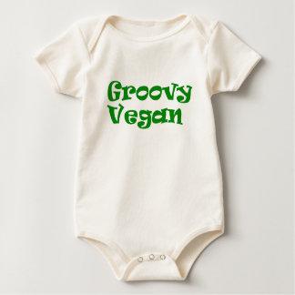 """""""Groovy vegan"""" baby bodysuit"""