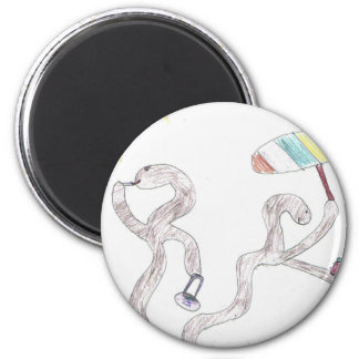 Groovy Worms 6 Cm Round Magnet