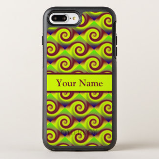 Groovy Yellow Brown Swirl Abstract Pattern OtterBox Symmetry iPhone 8 Plus/7 Plus Case