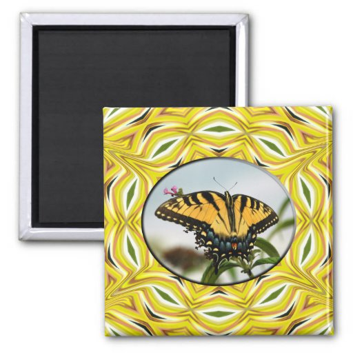 Groovy Yellow Butterfly Magnet