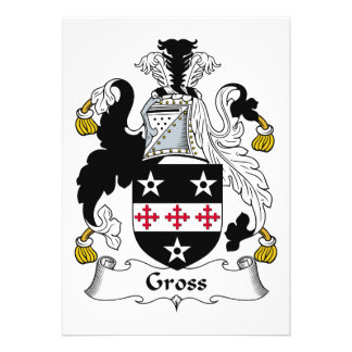 Gross Family Crest Personalized Invitation