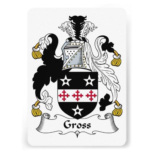 Gross Family Crest Card