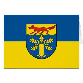 Gross Gievitz, Germany flag Greeting Card