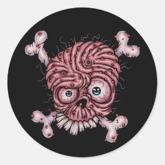 Grossbeard Round Stickers