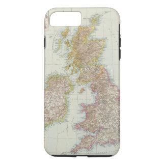Grossbritannien, Irland - Map of UK, Ireland iPhone 8 Plus/7 Plus Case