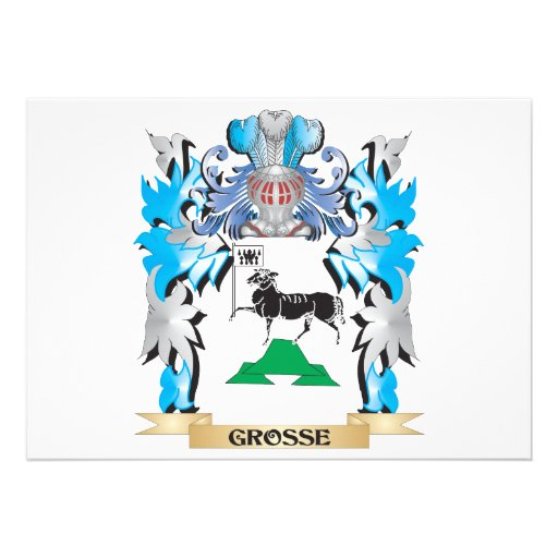 Grosse Coat of Arms - Family Crest Invite