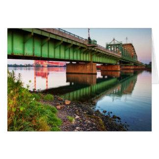 Grosse Ile Parkway Bridge Sunrise Greeting Card