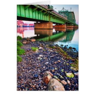 Grosse Ile Parkway Bridge Sunrise II Greeting Card