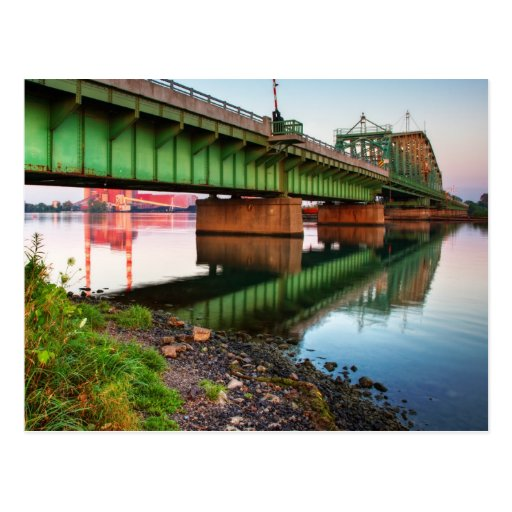 Grosse Ile Parkway Bridge Sunrise Post Card