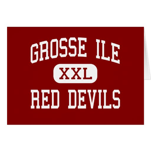 Grosse Ile - Red Devils - Middle - Grosse Ile Greeting Cards