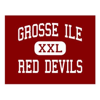 Grosse Ile - Red Devils - Middle - Grosse Ile Postcard