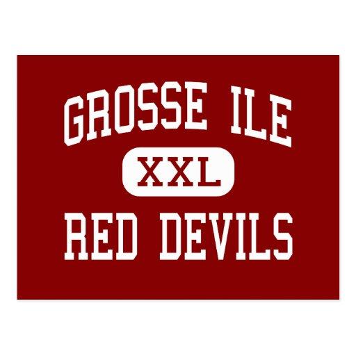 Grosse Ile - Red Devils - Middle - Grosse Ile Postcards