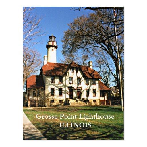 Grosse Point Lighthouse, Illinois Postcard